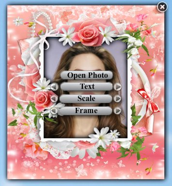Flower frames - widget photo frame.