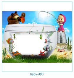 Marco de la foto del bebé 490