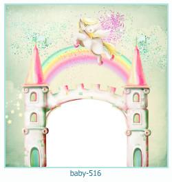Marco de la foto del bebé 516
