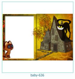 Marco de la foto del bebé 636