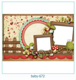 Marco de la foto del bebé 672