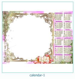 calendario marco de fotos 1