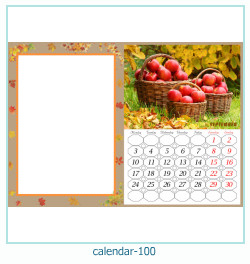 calendrier cadre photo 100