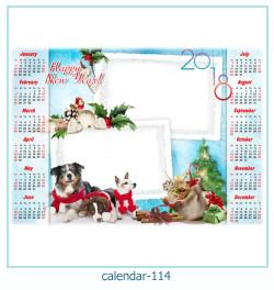 calendario marco de fotos 114