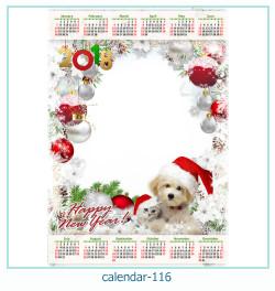 calendario marco de fotos 116
