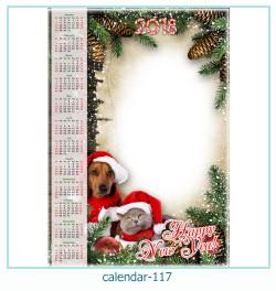 calendario marco de fotos 117