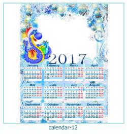 calendário moldura 12