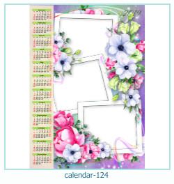 calendário moldura 124