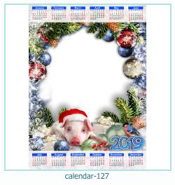 calendário moldura 127