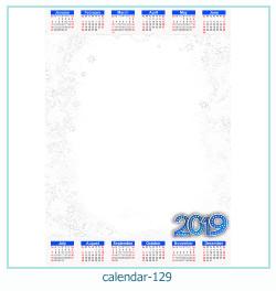 calendário moldura 129