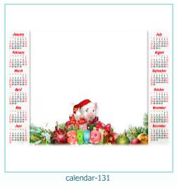 calendário moldura 131