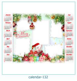 calendario marco de fotos 132