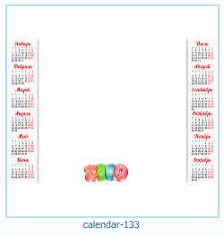 calendário moldura 133