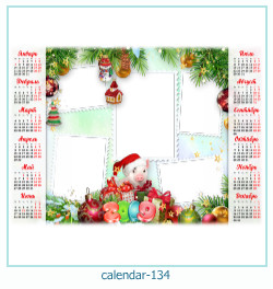 calendário moldura 134