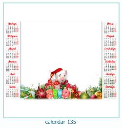 calendário moldura 135