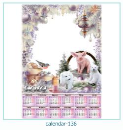 calendário moldura 136