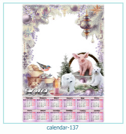 calendário moldura 137
