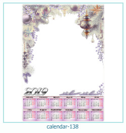 calendário moldura 138
