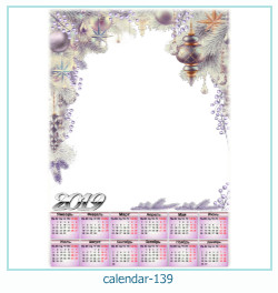 calendário moldura 139