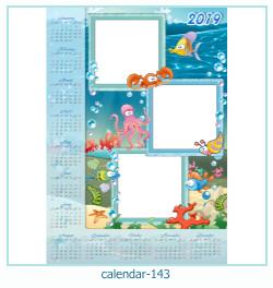 calendário moldura 143