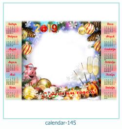 calendário moldura 145