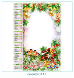 calendário moldura 147
