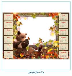 calendário moldura 15
