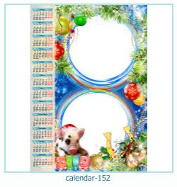 calendário moldura 152
