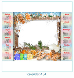 calendário moldura 154