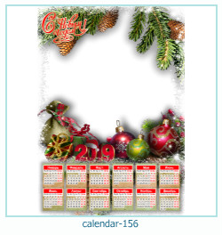 calendario marco de fotos 156