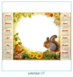 calendário moldura 17