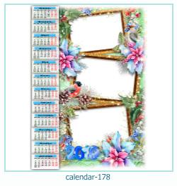 calendário moldura 178