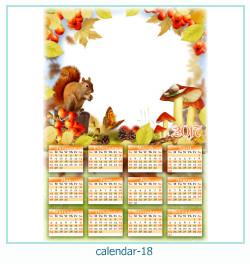 calendário moldura 18