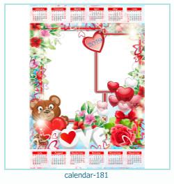 calendário moldura 181