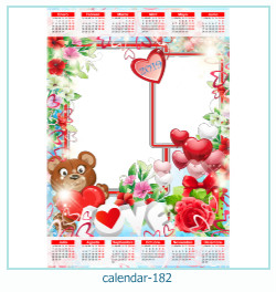 calendário moldura 182