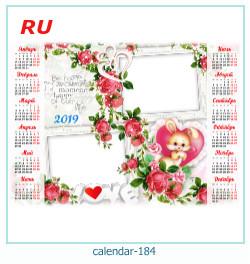calendário moldura 184