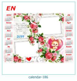 calendário moldura 186