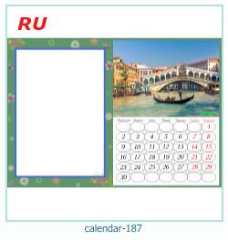 calendário moldura 187
