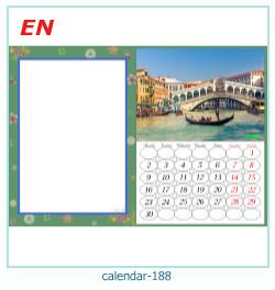 calendario marco de fotos 188