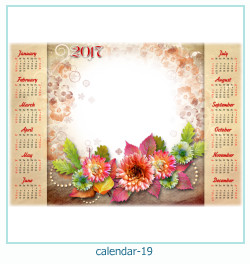 calendario fotografico cornice 19
