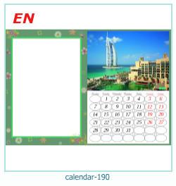 calendário moldura 190