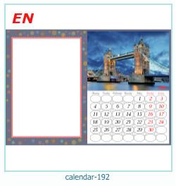 calendario marco de fotos 192