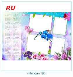 calendário moldura 196