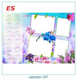calendário moldura 197