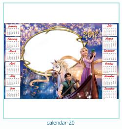 calendario marco de fotos 20