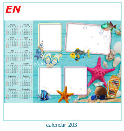 calendário moldura 203