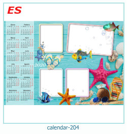 calendário moldura 204