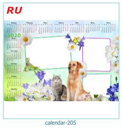calendario fotografico cornice 205
