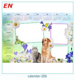 calendário moldura 206