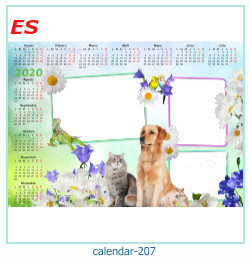 calendário moldura 207